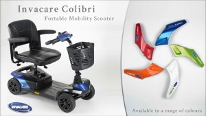 five colours to choose from for invacare colibri scooter
