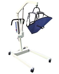 Battery Powered Bariatric Patient Lift with Rechargeable, Removable Battery