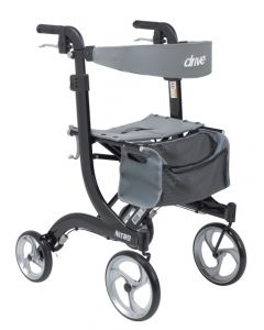 Black Nitro Rollator Tall by Drive