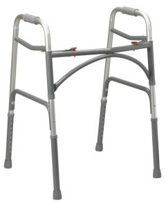 Bariatric Aluminum Folding Walker Two Button by Drive
