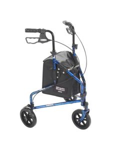 Blue Deluxe 3 Wheel Rollator by Drive