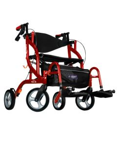 Cranberry Airgo Fusion F18 Hemi Side-Folding Rollator & Transport Chair by Drive