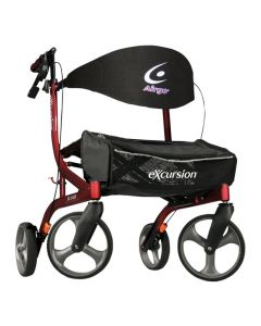 Cranberry Airgo eXcursion X18 Lightweight Side-fold Rollator by Drive