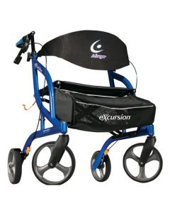 Pacific Blue Airgo eXcursion XWD Lightweight Side-fold Rollator by Drive