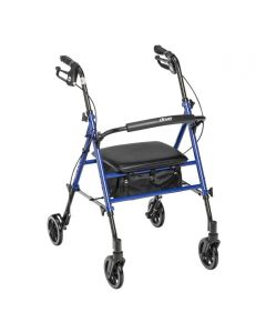 Blue Adjustable Height Rollator by Drive