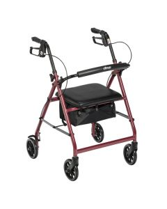 Red Go-Lite Rollator by Drive