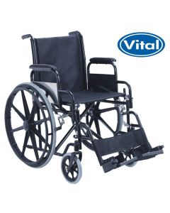 Manual Wheelchair with Detachable Footrests & Armrests