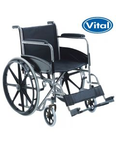 Manual Wheelchair with Detachable Footrests