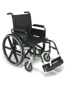 Breezy 600 Folding Lightweight Wheelchair Forest Green