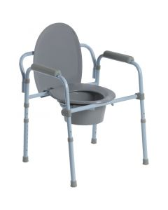 Folding Steel Commode by Drive