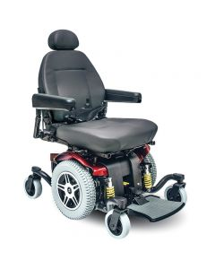 Jazzy 516 HD Bariatric Power Wheelchair by Pride - Candy Apple Red