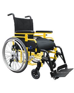 Magic Plus Lightweight Folding Wheelchair Yellow
