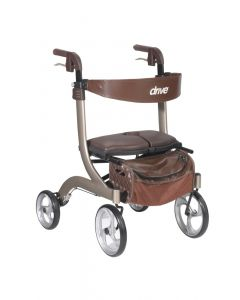 Champagne Nitro DLX Rollator by Drive