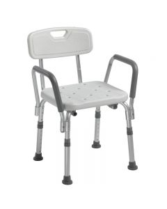 Shower Chair with Back & Padded Armrests 12445KD-1