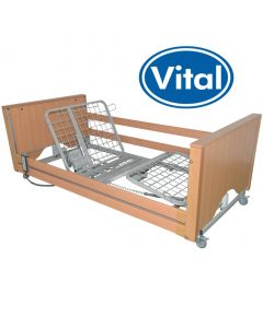 Standard VitalFlex Bed with Logo - Oak