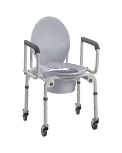 Drive Steel Drop Arm Commode with Wheels