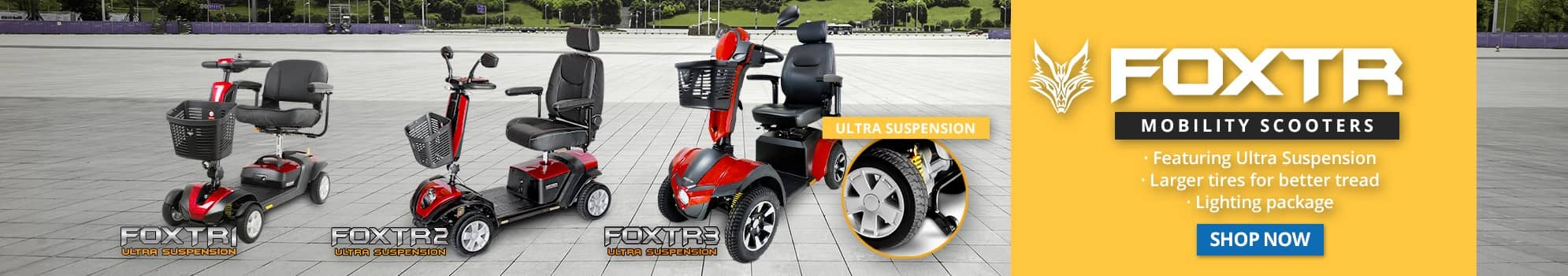 FOXTR Mobility Scooters Banner